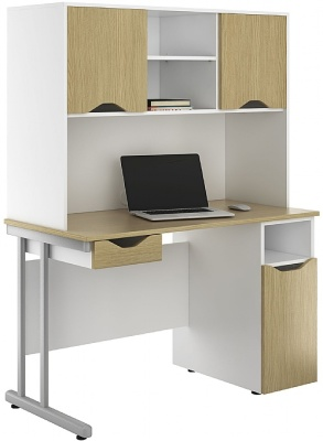 UCLIC Create Sylvan Desk With Overhead Cupboards, Drawer And Desk Cupboard