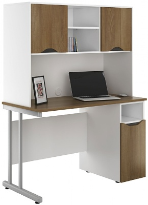 UCLIC Create Cupboard Desk With Overhead Cupboards