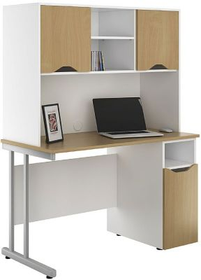 UCLIC Create Cupboard Desk With Overhead Cupboards2