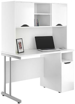 UCLIC Create Refelctions Desk With High Gloss White Fronts