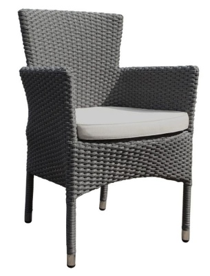 Cuba Weave Armchair With Light Grey Seat Cushion