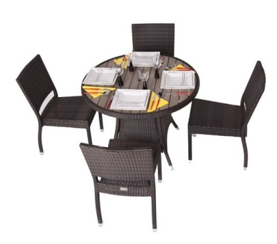 Orion Four Person Outdoor Weave Set Taken From Above