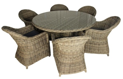 Hampstead Six Seater Outdoor Dining Set