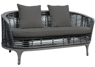 Riveria Sofa With Dark Grey Cushions