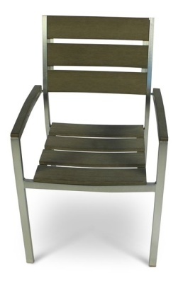WEstern Brushed Aluminium Barmchair 2