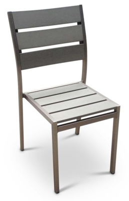WEstern Brushed Aluminium Side Chair