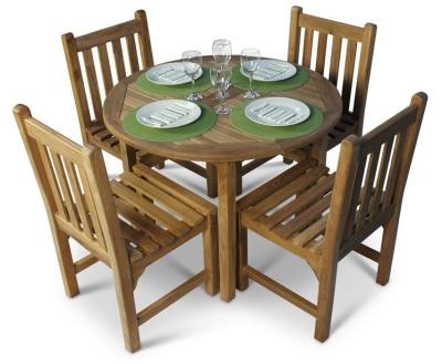 Dagenham Four Seater Teak Dining Set