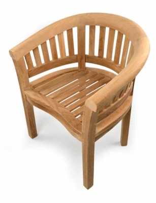 Oxford Curved Teak Armchair 2