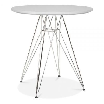 Eames DSR Table With A Light Grey Top