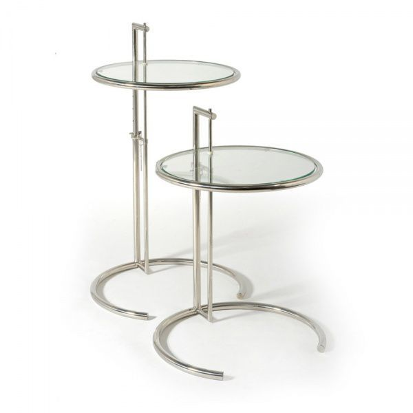 eileen gray inspired occasional table gold frame. Black Bedroom Furniture Sets. Home Design Ideas