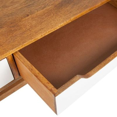 Beck Mango Desk Drawer Open