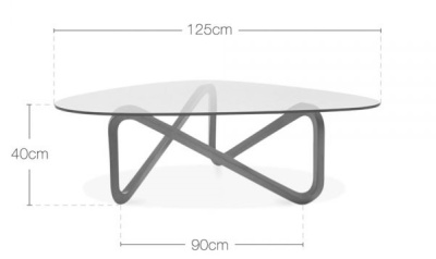 Affinity Glass Table Dims
