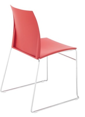 Tucker Chair With A Skid Frame Rear Angle