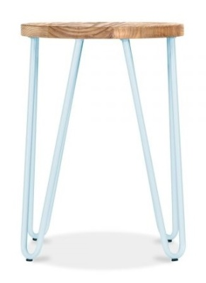 Hairpin Llow Stool With A Pastel Blue Frame 2