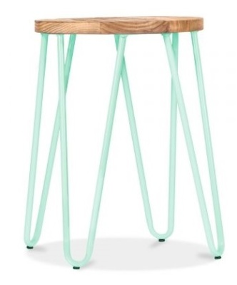 Hairpin Low Stool With A [peppermint Frame 1