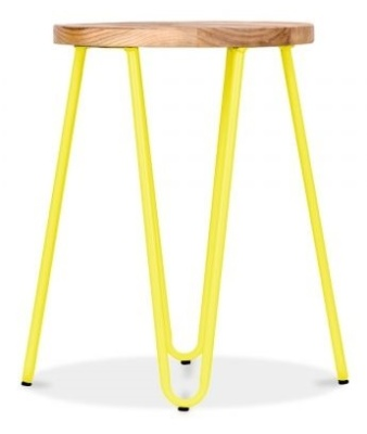Hairpin Stool With A Yellow Frame 3