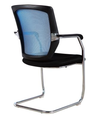 Regatta Mesh Conference Chair With A Blue Back Angle Shot