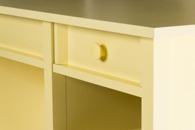 Brixham Sherbet Yellow Desk Detail 1