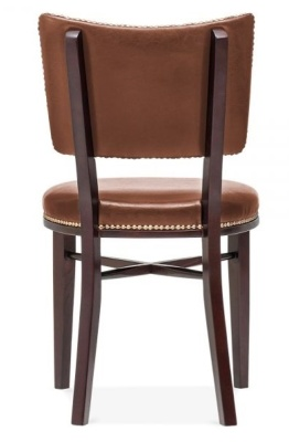 Chicago Browmn Laether Dining Chair Back