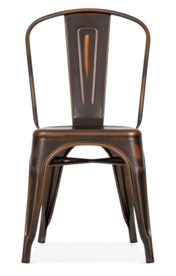 Xavier Pauchard Chair In An Anjtique Copper Finish Front Shot