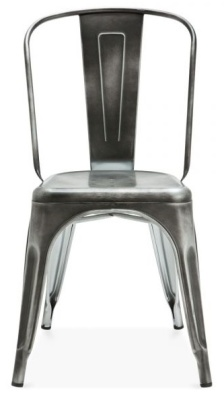 Xavier Pauchjard Chair Antique Silver Front View