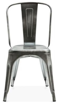 Xavier Pauchjard Chair Antique Silver Front View