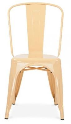 Xavier Pauchard Side Chair In Peach Front Face