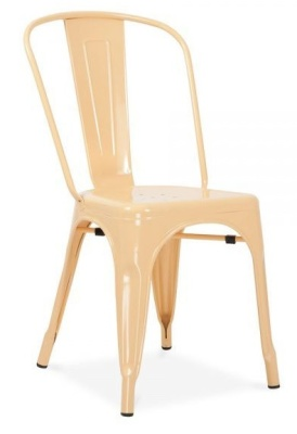 Xavier Pauchard Side Chair In Peach Front Angle