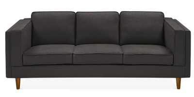 Eddie Three Seater Sofa Dark Grey