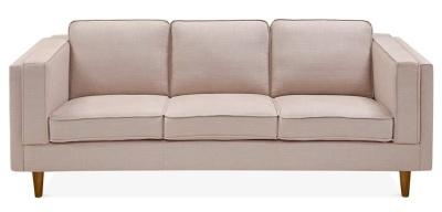 Eddie Three Seater Sofa Cream Upholstery