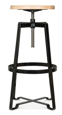 Vortex Industrial Style Stool Black Frame 2