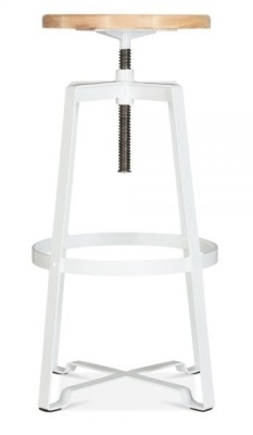 Vortex Industrial High Stool In White 2