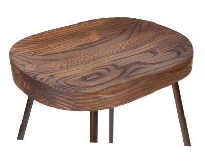Cadiz Bar Stool Wooden Seat Detail