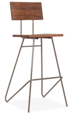 Urban Hairpin High Stool Gun Metal Finish Angle View