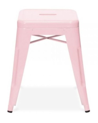 Xavier V4 Low Stool In Pastel Pink 1