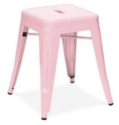 Xavier V4 Low Stool In Pastel Pink 2