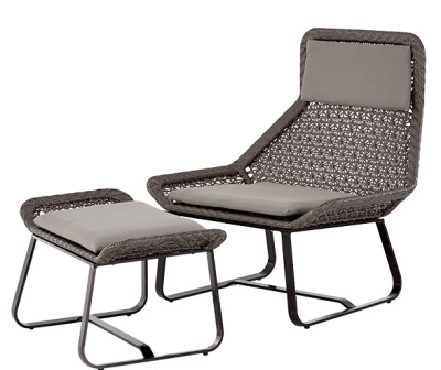 Compton Lounge Chair And Footstool 1