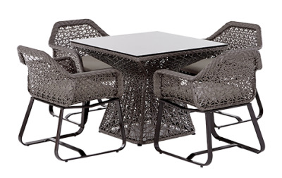Compton Four Person Outdoor Dining Set