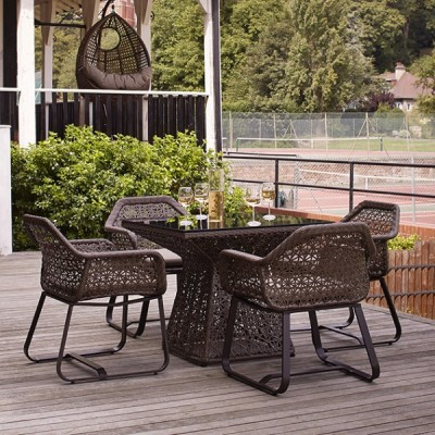 Compton Outdoor Dining Set Mood Shot