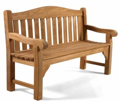 Martock Two Seater Teak Bench 1