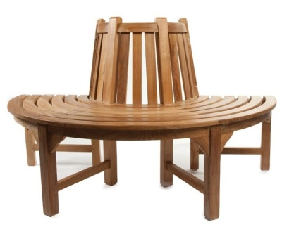 Exmouth Half Round Teak Tree Bench 2