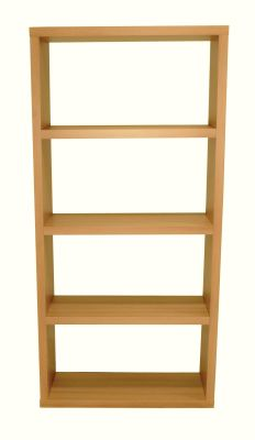 Bombaty Wide Bookcase In Beech Front Shot