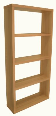 Bombaty Wide Bookcase In Beech Angtle Shot