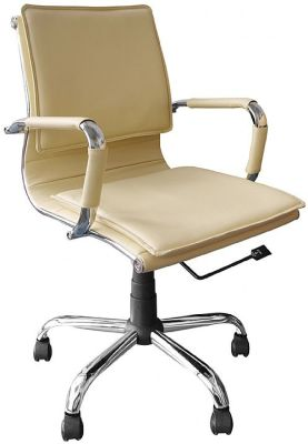Encore Cream Leather Executive Chair 1
