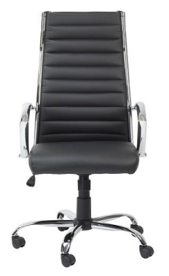 Conquest Black Faux Leather Chair Face