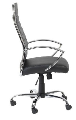 Conquest Black Leather Executive Chair Side View