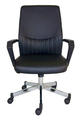 Mercos Black Leather Executive Chair Face Shot