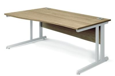 Trapido Left Hand Wave Desk Oak Top