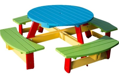 Oasis Citrcular Picnic Table V1