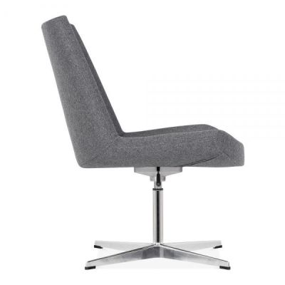 Ne Jersey Loung Chair In Grey Side View